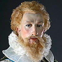 Left close up color image of Earl of Essex aka. Robert Devereux, by George Stuart.
