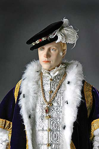 Portrait length color image of Edward VI aka. Edward VI of England Edward Tudor, by George Stuart.
