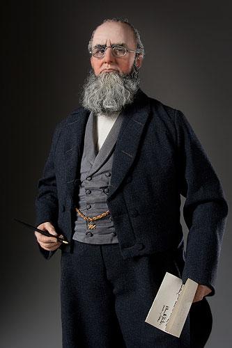 Portrait length color image of Edwin M. Stanton aka. Mars, by George Stuart.