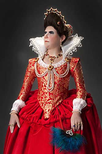 Portrait length color image of Elizabeth Bathory aka.