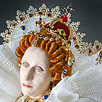 Right closup color image of Elizabeth I aka. Elizabeth I of England, Glorianna, Good Queen Bess, The Virgin Queen, by George Stuart.
