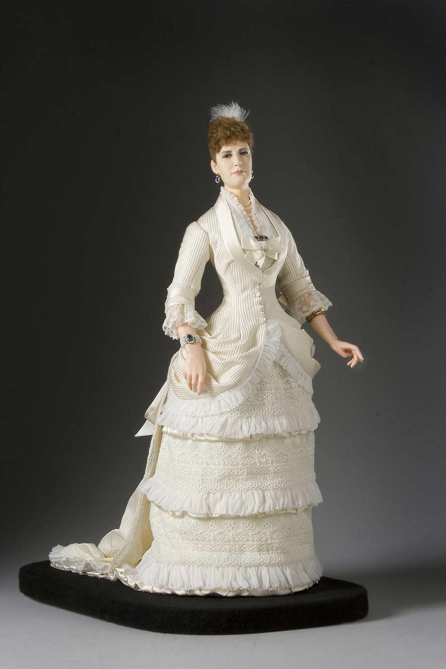 Full length color image of Empress Marie Feodorovna aka. Dagmar of Denmark, by George Stuart.