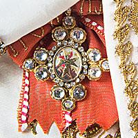 Right closup color image of Empress Alexandra Fedorovna aka. Императрица Александра Фёдоровна,  Alix of Hesse, by George Stuart.