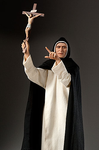Portrait length color image of Girolamo Savonarola aka. Girolamo Maria Francesco Matteo Savonarola, by George Stuart.