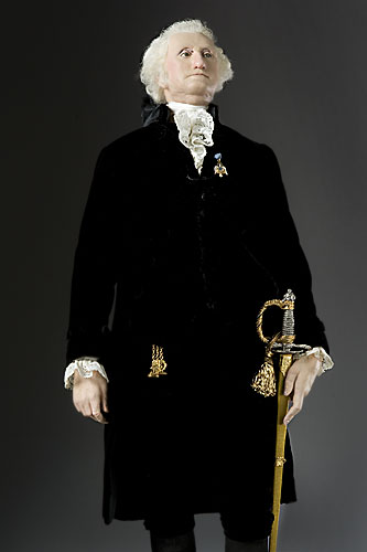 Portrait length color image of George Washington (President) aka.
