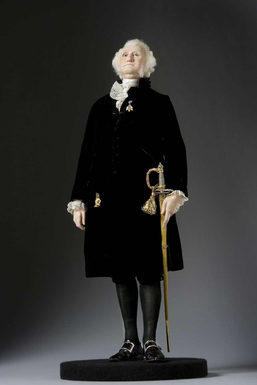 Full length color image of George Washington (President) aka.