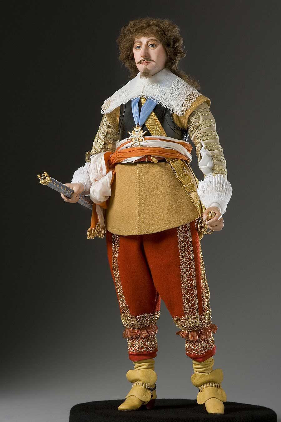 Full length color image of Gaston d' Orleans aka. Gaston of France, by George Stuart.