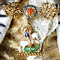 Right closup color image of George III (Robes of state) aka. George III of England, George William Frederick, by George Stuart.