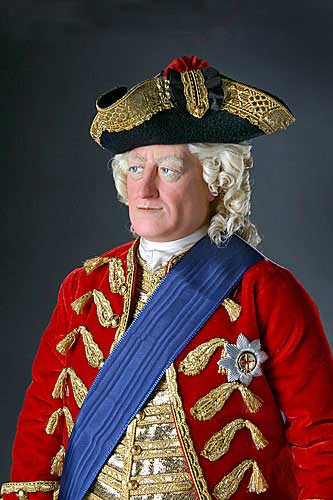 Portrait length color image of George II aka. George II of England, George Augustus, by George Stuart.