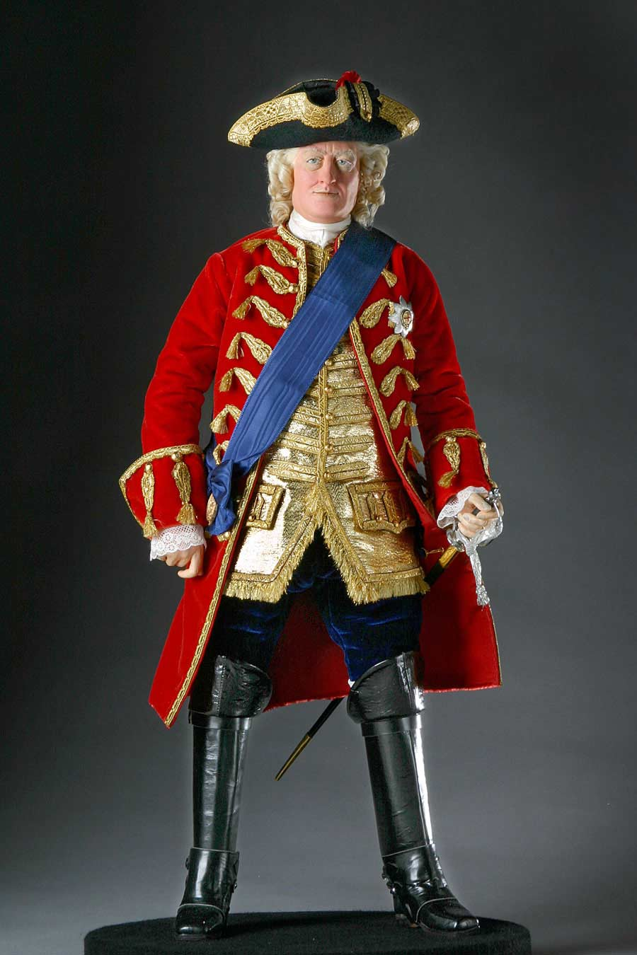 Full length color image of George II aka. George II of England, George Augustus, by George Stuart.