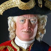 Left close up color image of George II aka. George II of England, George Augustus, by George Stuart.