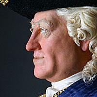 Right closup color image of George II aka. George II of England, George Augustus, by George Stuart.