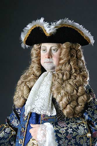 Portrait length color image of George I aka. George I of England, George Louis, by George Stuart.