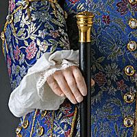 Left close up color image of George I aka. George I of England, George Louis, by George Stuart.
