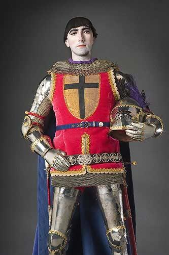Portrait length color image of Gilles de Retz aka. Gilles de Montmorency-Laval, by George Stuart.