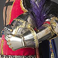 Left close up color image of Gilles de Retz aka. Gilles de Montmorency-Laval, by George Stuart.