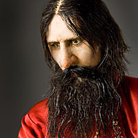 Right closup color image of Gregori Rasputin aka. Григорий Ефимович Распутин, by George Stuart.