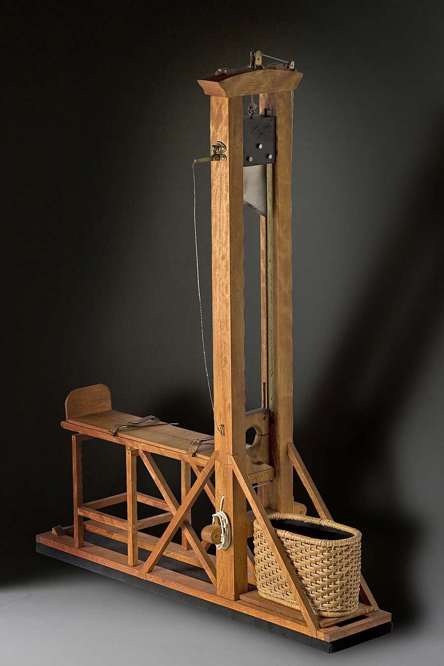 Full length color image of Guillotine (fixture)  aka.