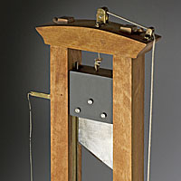 Right closup color image of Guillotine (fixture)  aka.