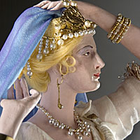 Left close up color image of Helen of Troy aka. Helen of Sparta, by George Stuart.
