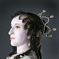 Right closup color image of Henrietta Maria aka. Henrietta Maria of France, by George Stuart.