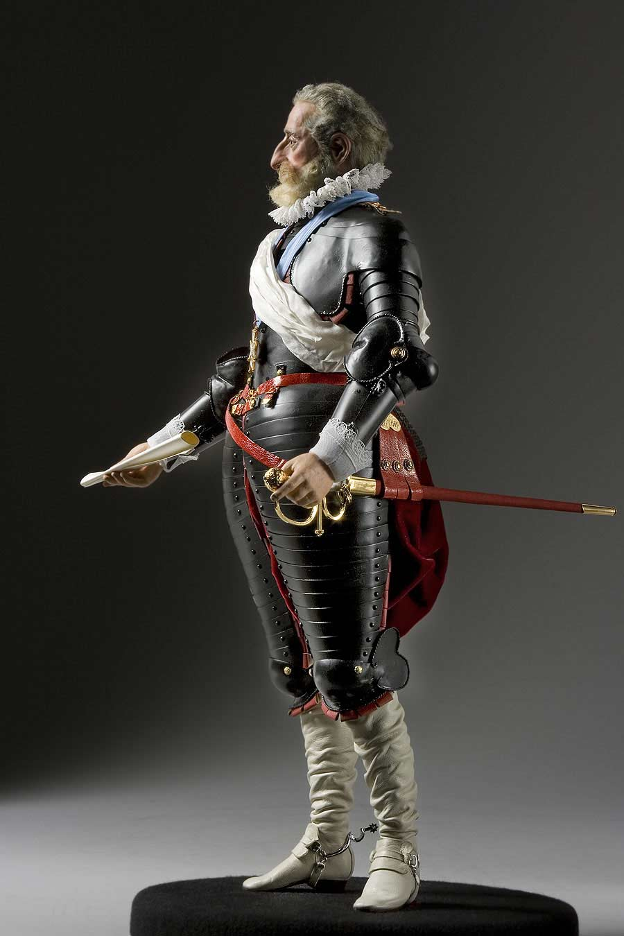 Full length color image of Henry IV aka. Henry IV of France, Bon Roi Henri, by George Stuart.