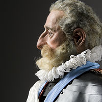 Right closup color image of Henry IV aka. Henry IV of France, Bon Roi Henri, by George Stuart.