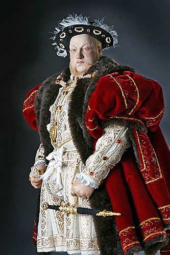 Portrait length color image of Henry VIII aka. Henry Tudor, by George Stuart.