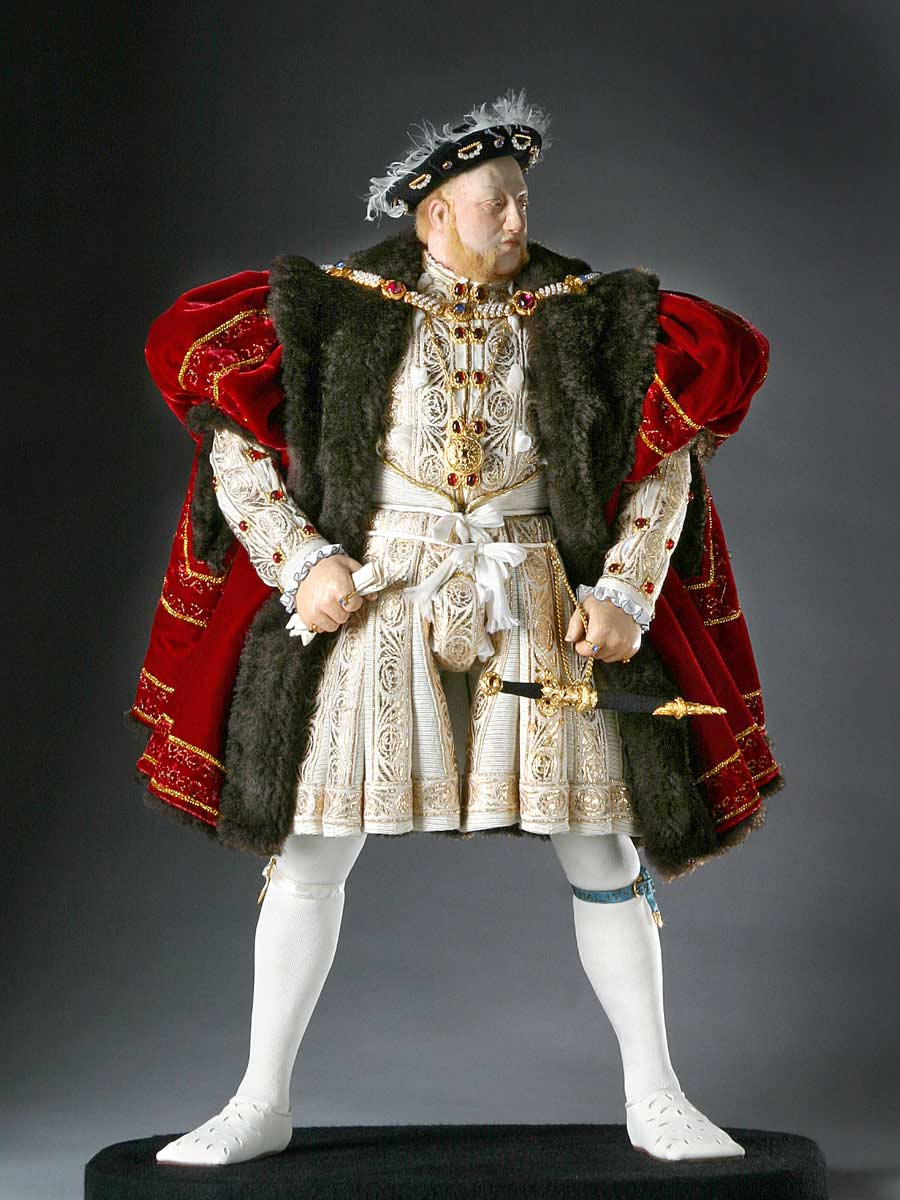 Full length color image of Henry VIII aka. Henry Tudor, by George Stuart.