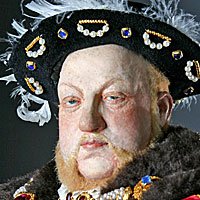 Right closup color image of Henry VIII aka. Henry VIII of England, Henry Tudor, by George Stuart.
