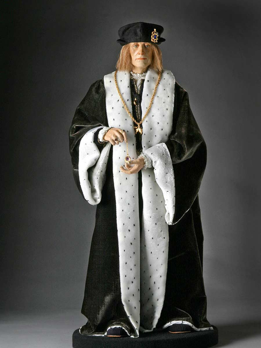 Full length color image of Henry VII aka. Henry VII of England, Harri Tudur, by George Stuart.