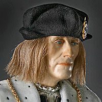 Right closup color image of Henry VII aka. Henry VII of England, Harri Tudur, by George Stuart.