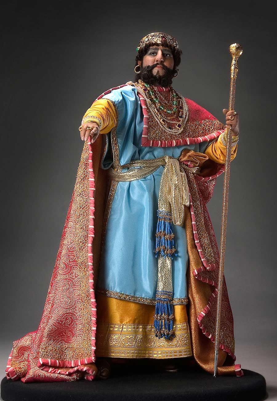 Full length color image of Herod Antipas, by George Stuart.