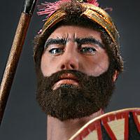 Left close up color image of Greek Hoplite Warrior aka.