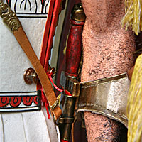 Right closup color image of Greek Hoplite Warrior aka.