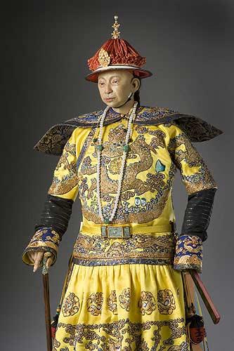 Portrait length color image of Hsien-Feng Emperor aka. Xianfeng Emperor, by George Stuart.