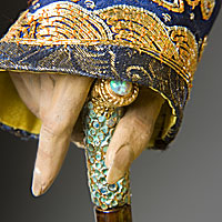 Left close up color image of Hsien-Feng Emperor aka. Xianfeng Emperor, by George Stuart.