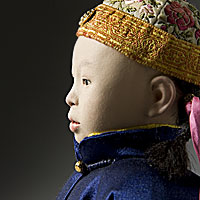 Right closup color image of Hsuan Tung Emperor  aka. Pu Yi, by George Stuart.