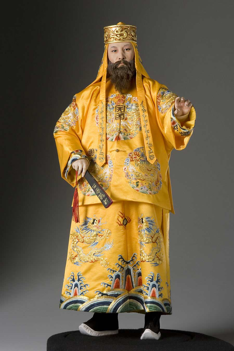Full length color image of Hung Hsiu Chuan (Taiping Emperor) aka. Hong Xiuquan, by George Stuart.