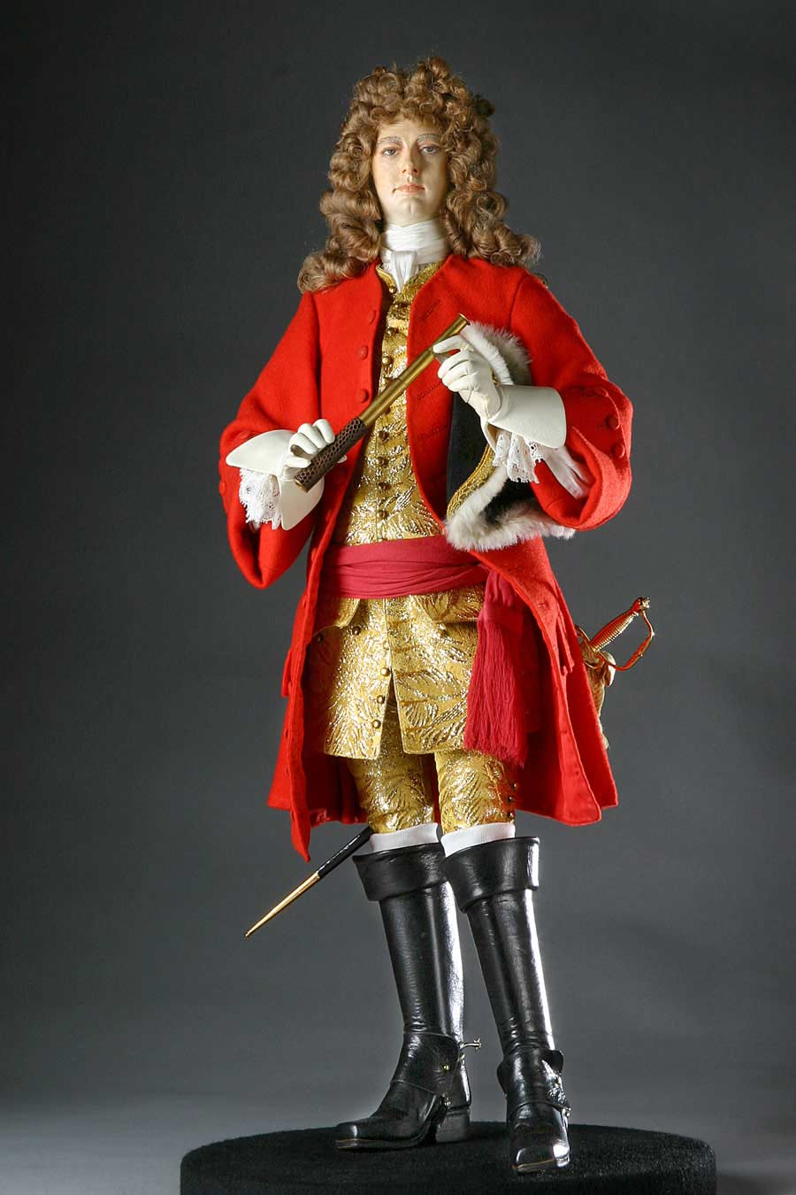 Full length color image of John Churchill Duke of Marlborough aka. Prince of Mindelheim, by George Stuart.