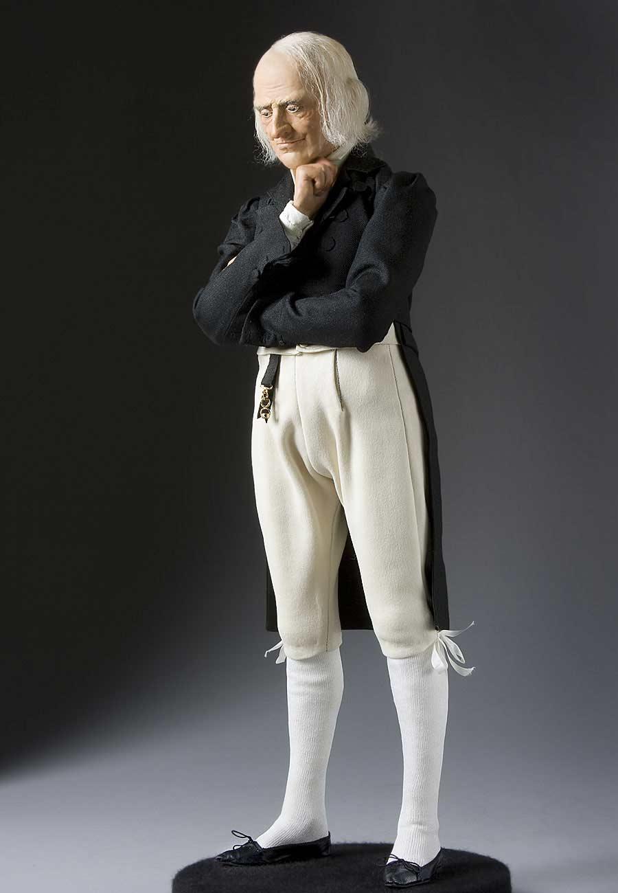 Full length color image of James Madison aka.