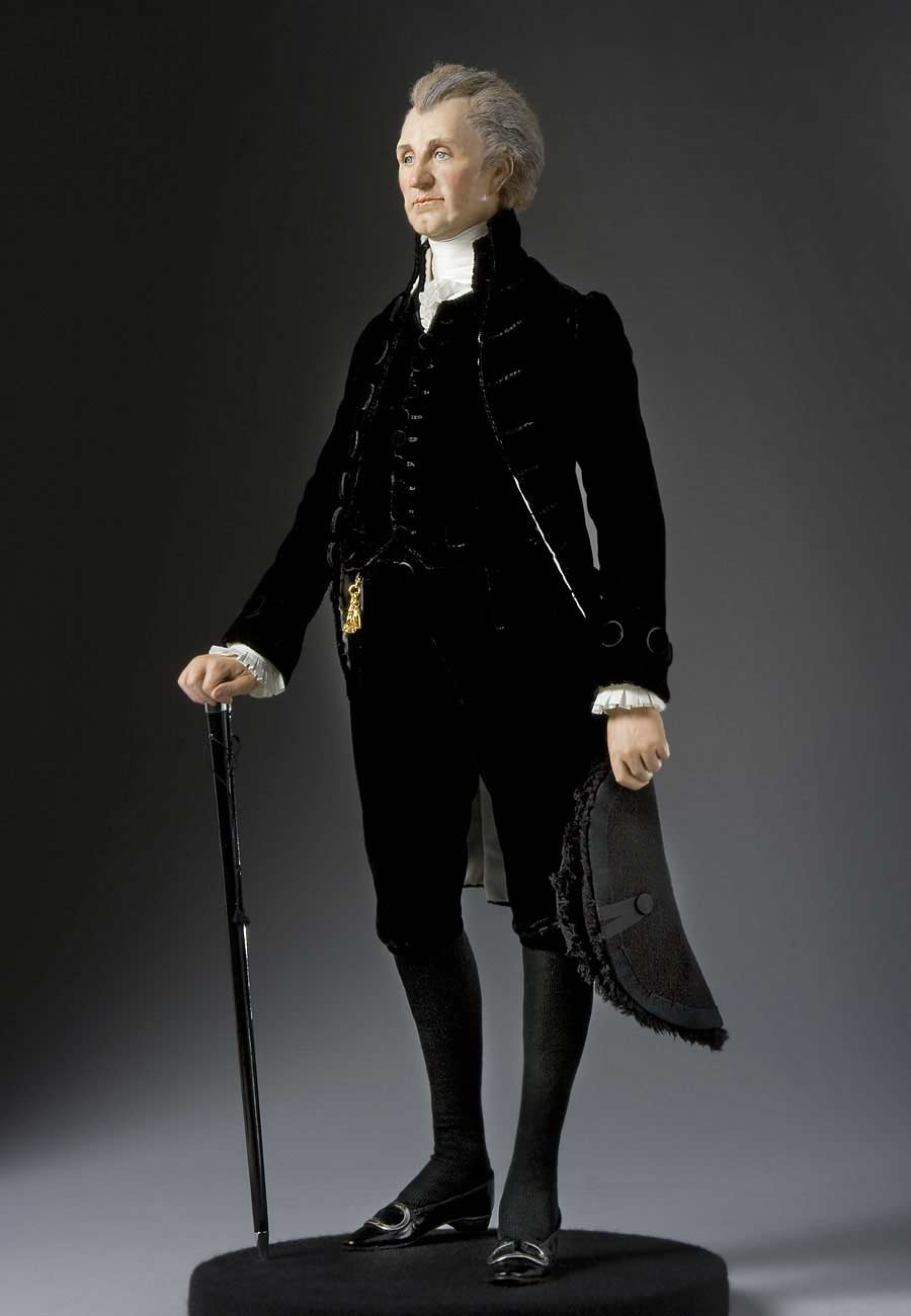 Full length color image of James Monroe aka.
