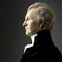 Right closup color image of James Monroe aka.