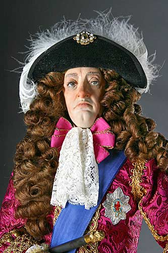 Portrait length color image of James II aka. James II of England, James VII of Scotland, by George Stuart.