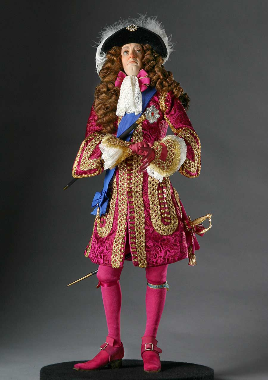 Full length color image of James II aka. James II of England, James VII of Scotland, by George Stuart.