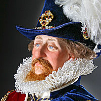 Right closup color image of James I aka. James I of England, James VI of Scotland, The Second Solomon, by George Stuart.