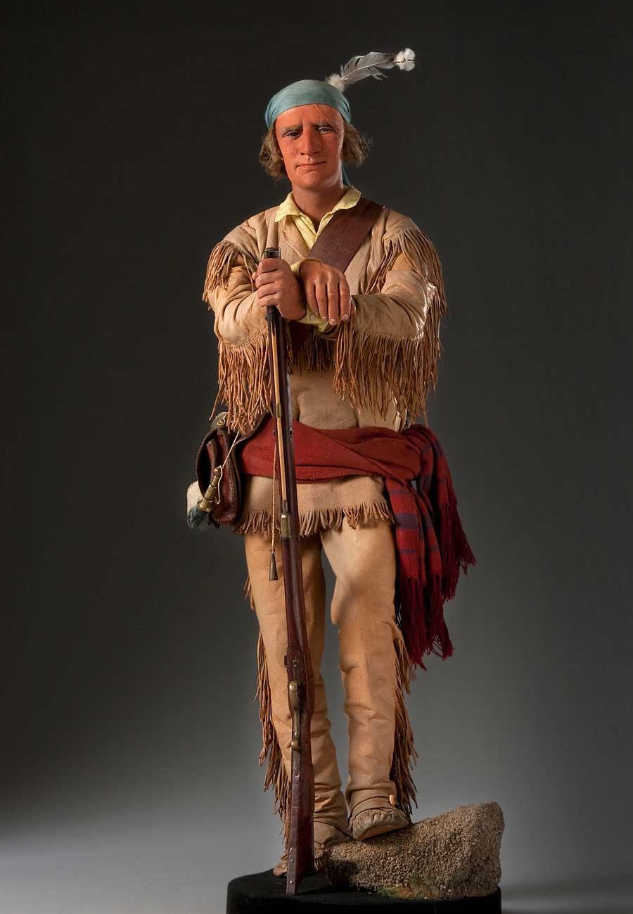 Full length color image of Jedediah Smith aka. Jedediah Strong Smith, by George Stuart.