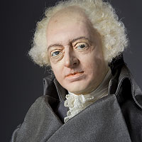 Right closup color image of John Adams aka.