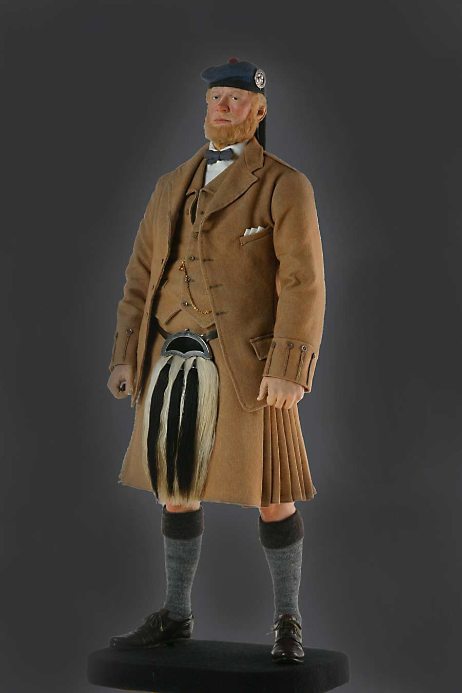 Full length color image of John Brown aka. Servant to the Queen, by George Stuart.