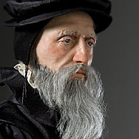 Right closup color image of John Calvin aka. Jean Calvin, by George Stuart.